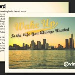 Royal Oak Vineyard Church Easter Postcard Graphic Design